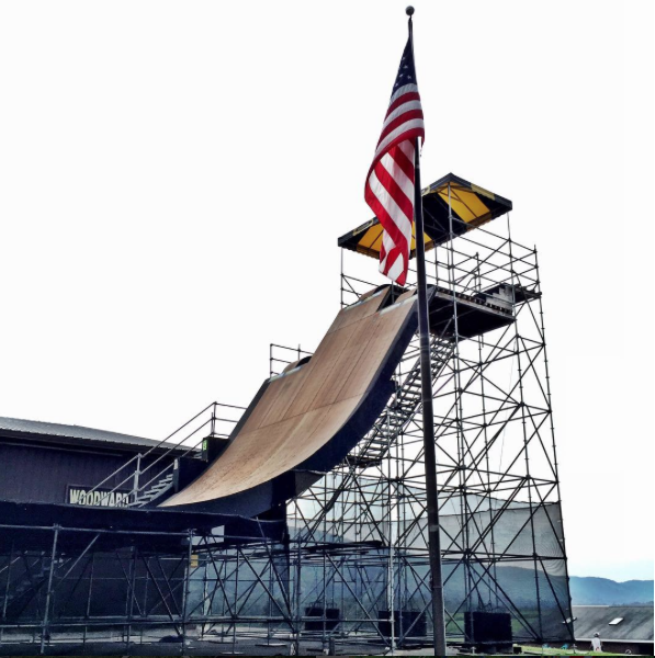 WOODWARD (Mini mega ramp where Wheelz made history grinding the first hand rail on the biggest gap)