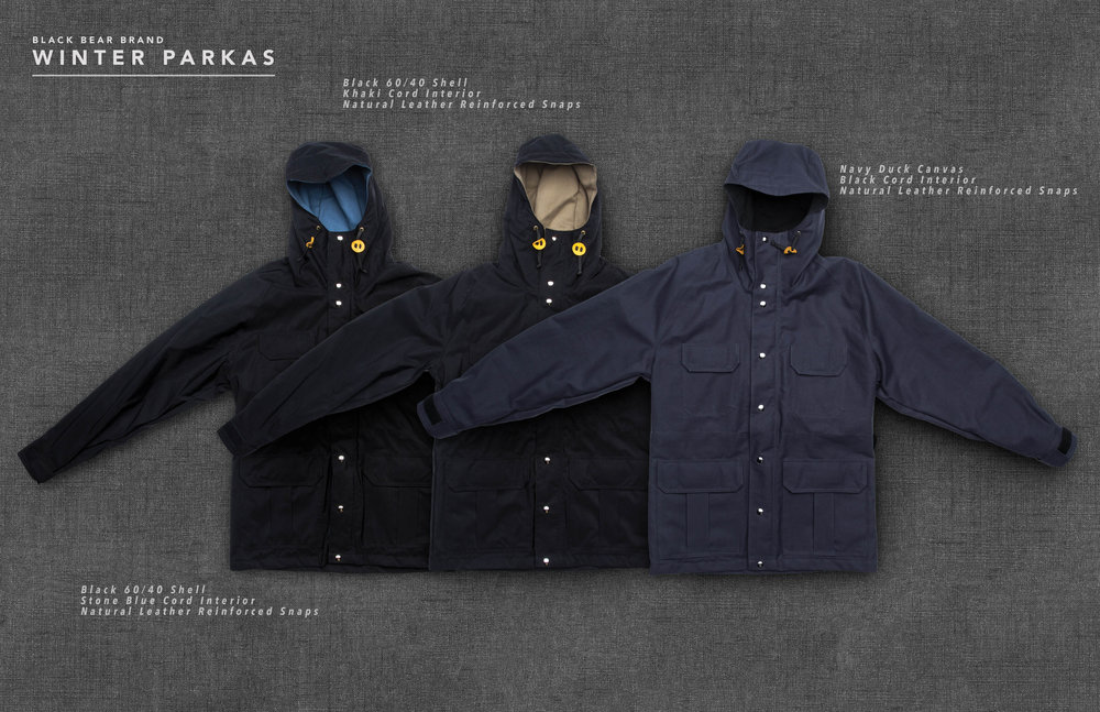 Black Bear Brand Winter Parkas