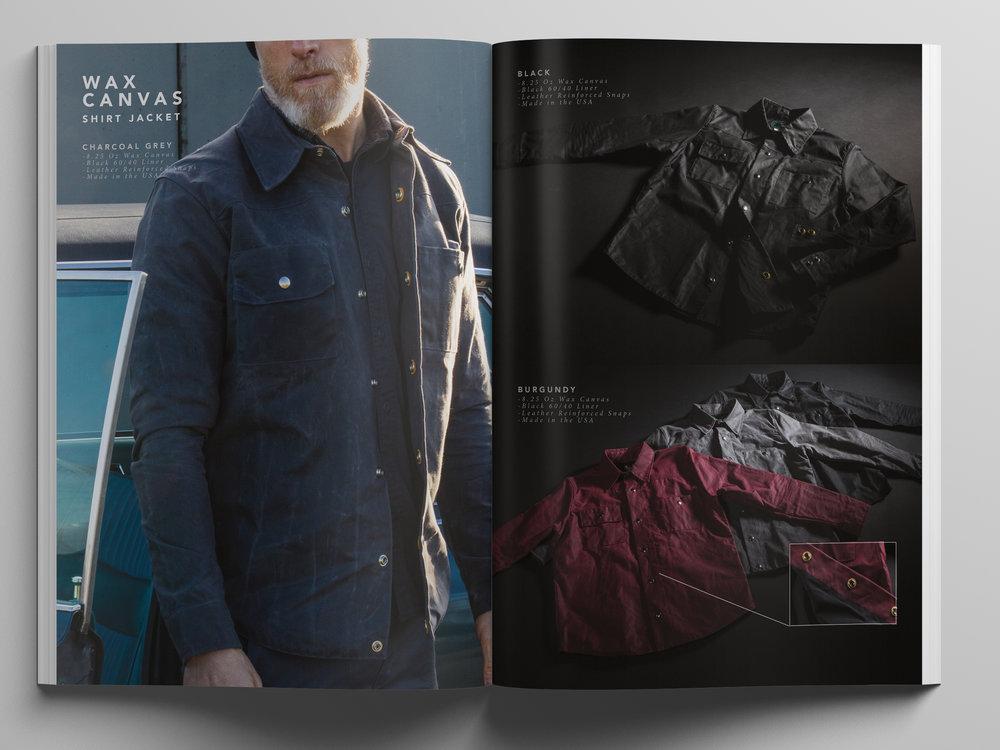 Black Bear Brand Waxed Shirt Jacket