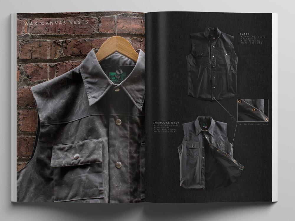 Black Bear Brand Grey Wax Canvas Vest