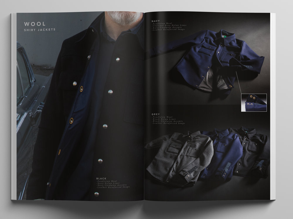 Black  Bear Brand Wool Shirt Jackets
