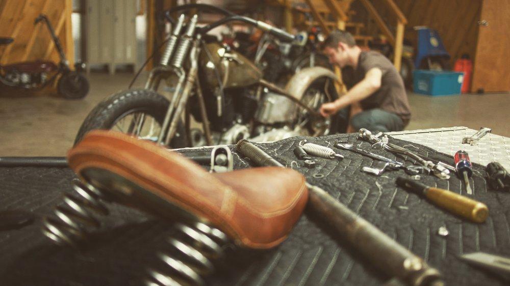 The Black Bear Brand Harley Davidson 1937 Flathead