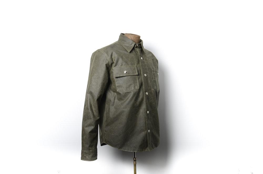 Black Bear Brand hunter green wax canvas shirt jacket