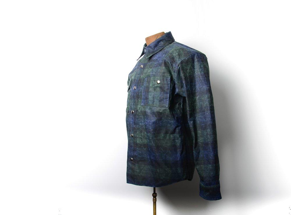 Black Bear Brand plaid wax canvas shirt jacket