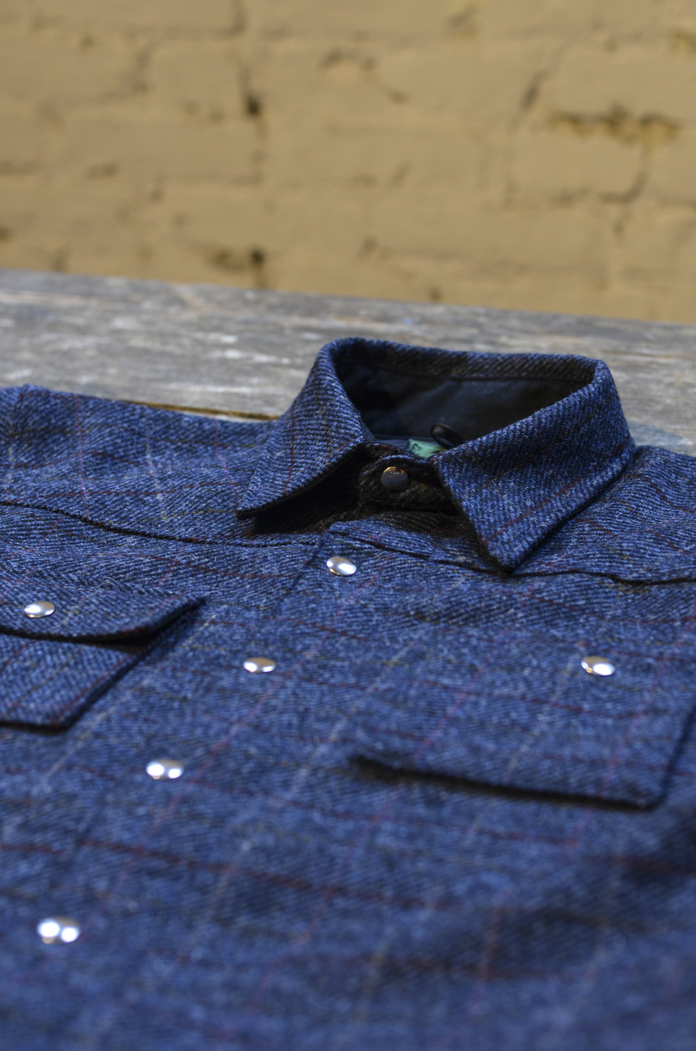 Black Bear Brand shirt jacket in Harris Tweed