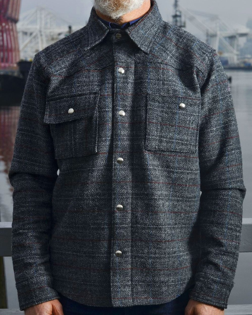 Black Bear Brand Grey Check Plaid (Harris Tweed)https://blackbearunion.com/black-bear-brand-factory-store/?category=Jackets