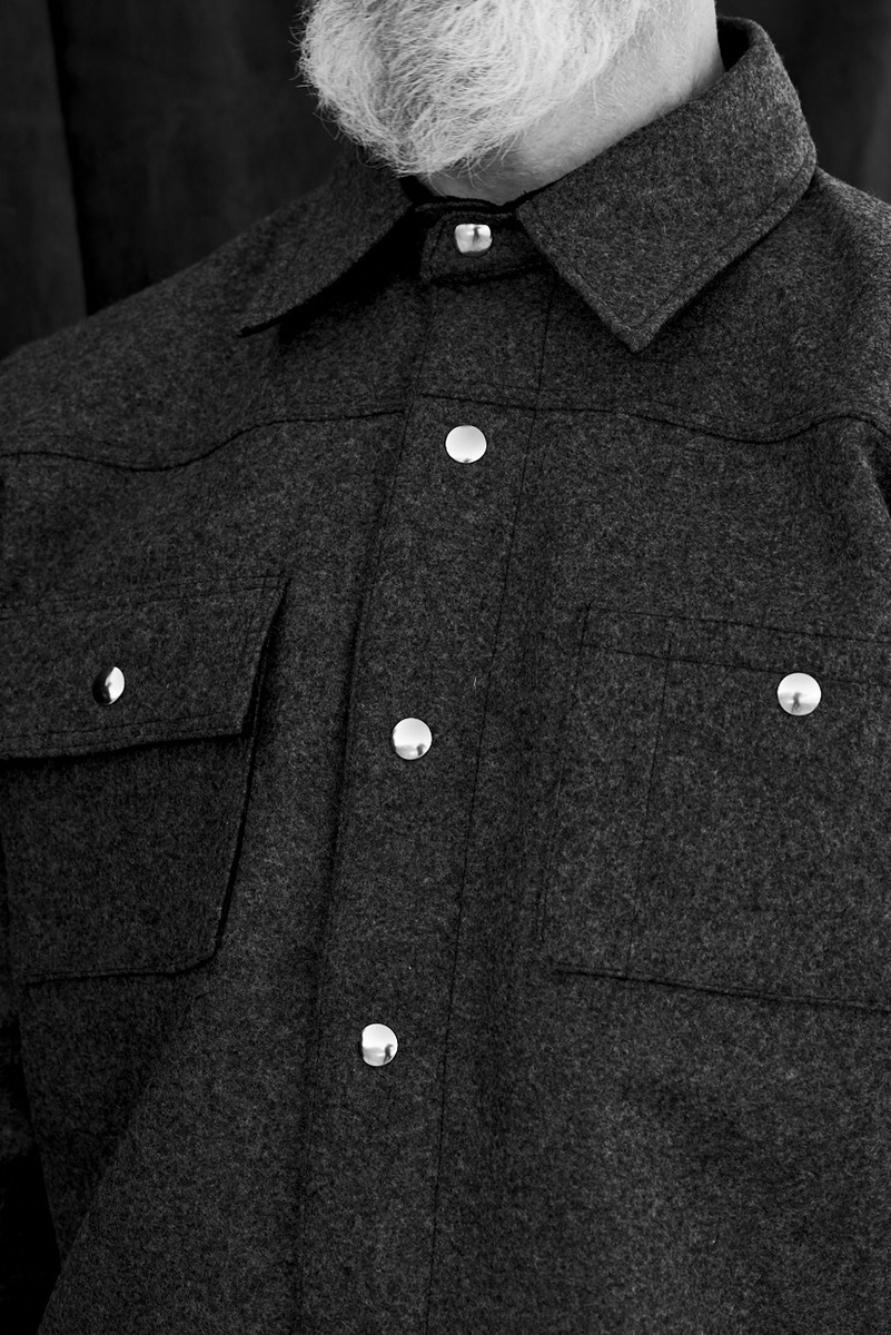 Black Bear Brand Wool Shirt Jacket
