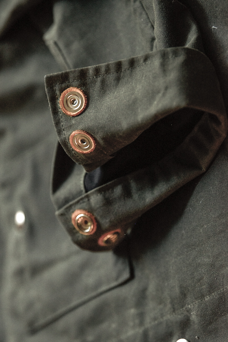 Black Bear Brand Wax Canvas shirt jacket