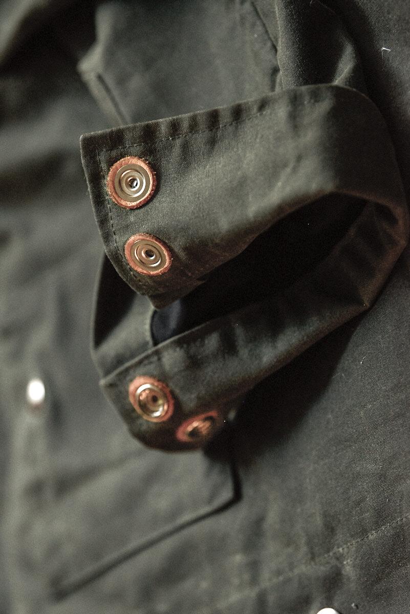Black Bear Brand Wax Canvas shirt jacket