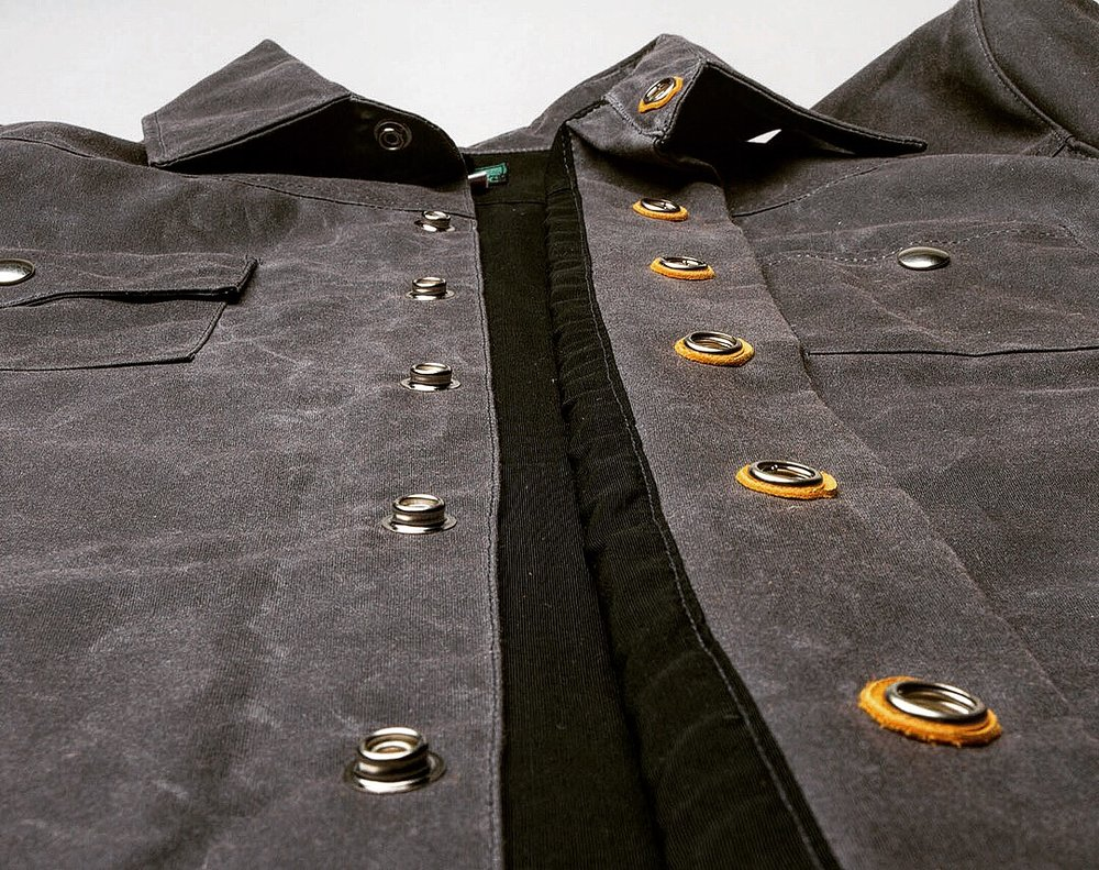 Black Bear Brand Grey Wax Canvas Shirt Jacket