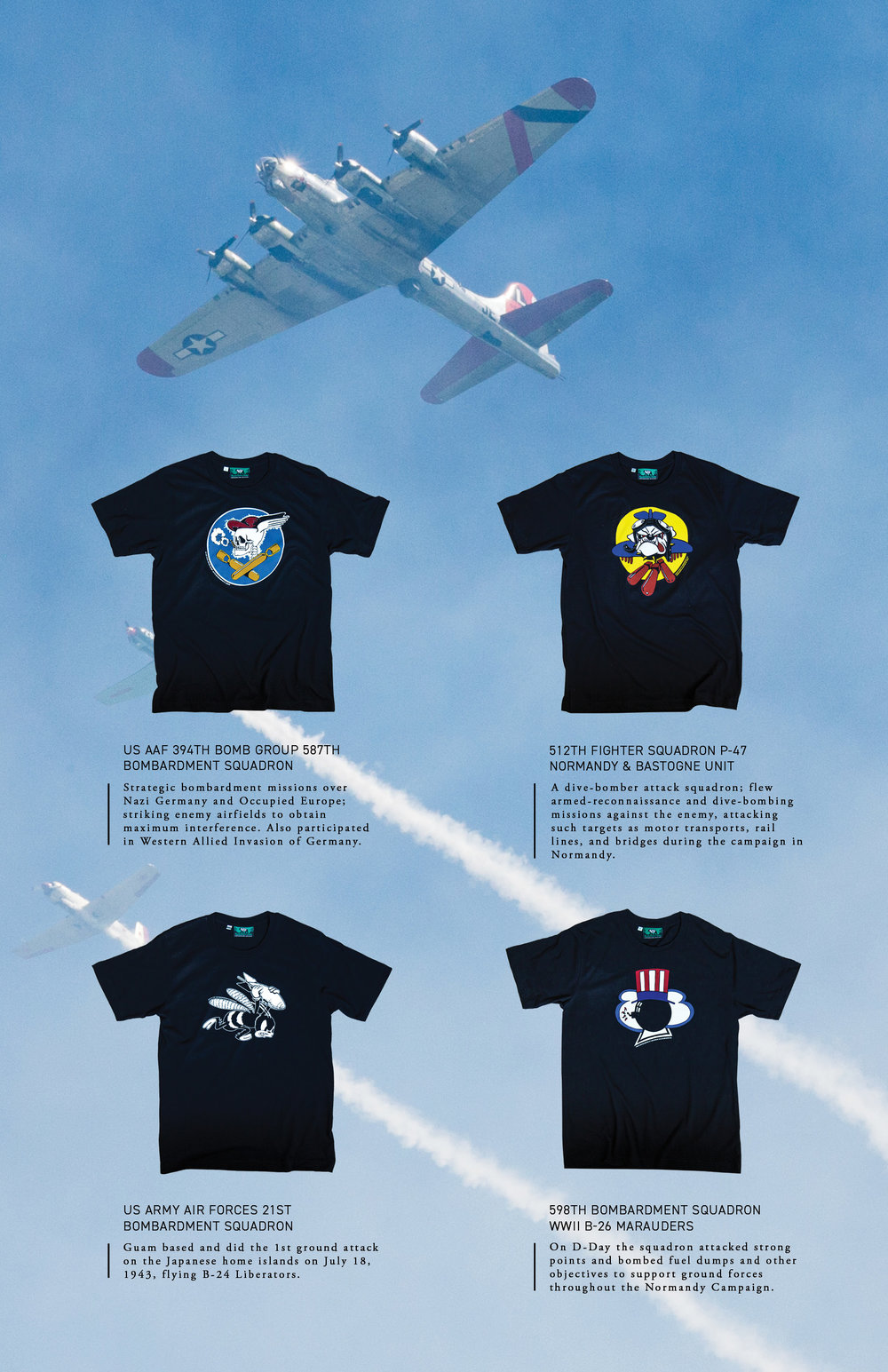 WWII Bomber ART by Black Bear Brand