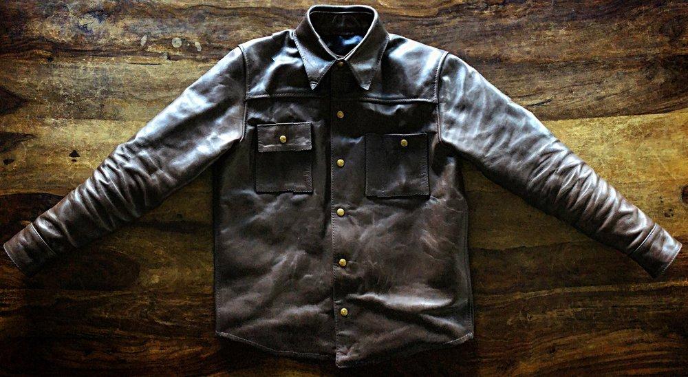 Black Bear Brand x Langlitz horsehide jacket in brown