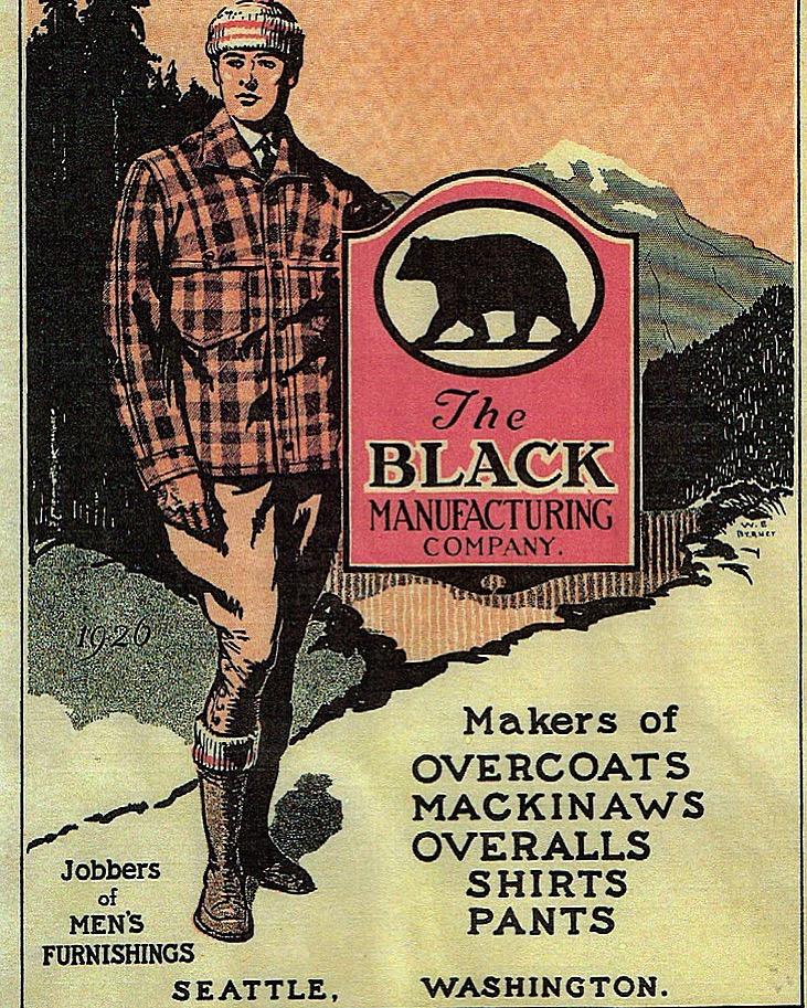 Black Bear Brand, Seattle Wash. Advertisement 1930