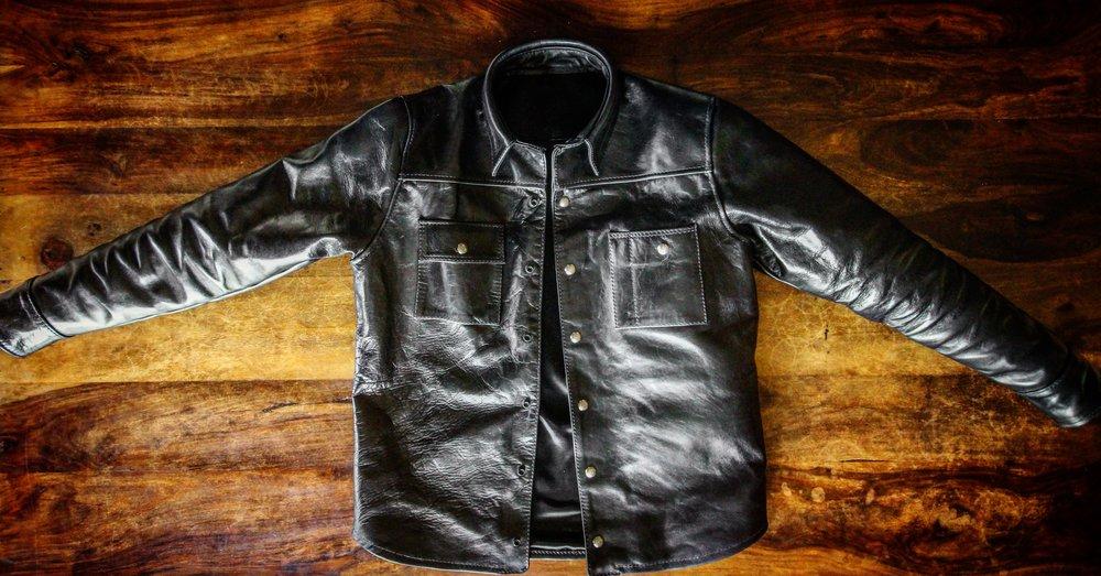 Black Bear Brand x Langlitz - Horsehide Shirt/Jacket in BLACK