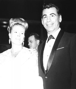 Kirk Kerkorian at the grand opening of Caesars Palace in '66.