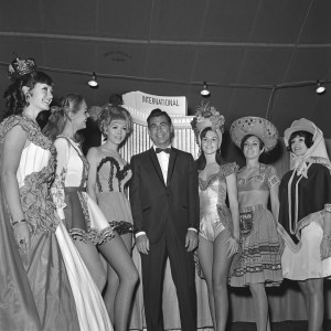 Kirk Kerkorian at the International Hotel in 1968.