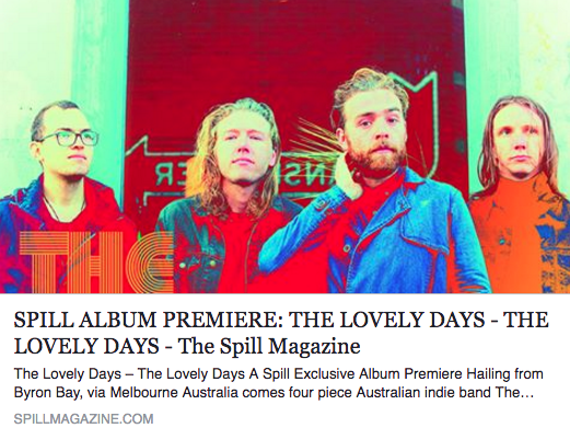Thanks to The Spill Magazine for the PREMIERE! http://spillmagazine.com/spill-album-premiere-lovely-days-lovely-days/