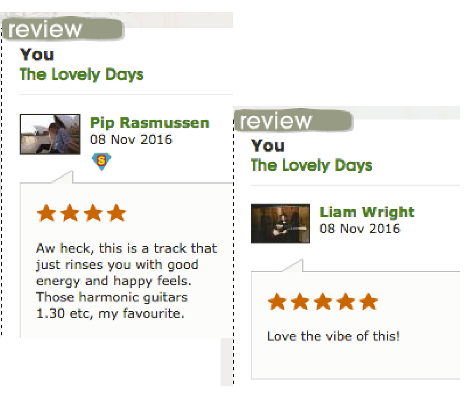 YOU from our EP is now on our Triple J Unearthed page - Have a listen - https://www.triplejunearthed.com/artist/lovely-days