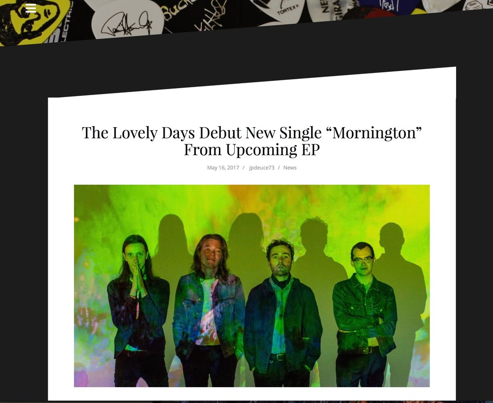 Thanks to Im Music Magazine...http://www.immusicmag.com/2017/05/the-lovely-days-debut-new-single-mornington-from-upcoming-ep/