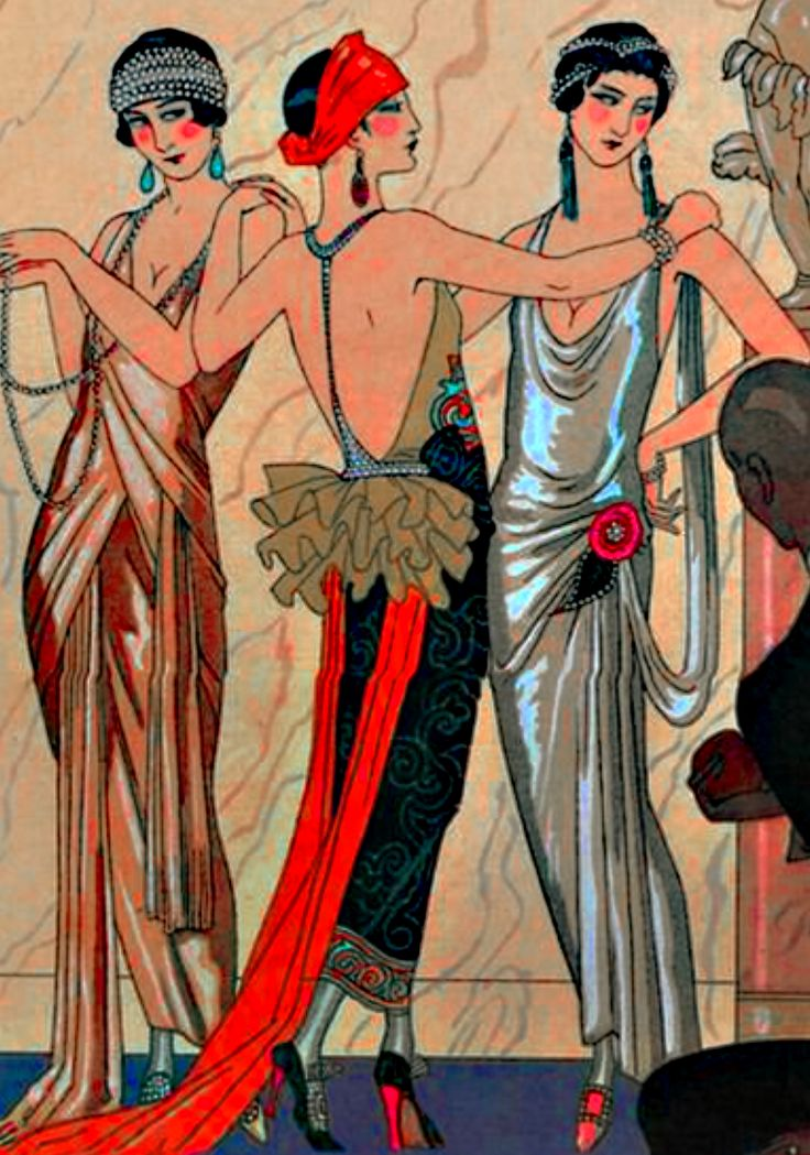 """Three Graces"" by Georges Barbier"