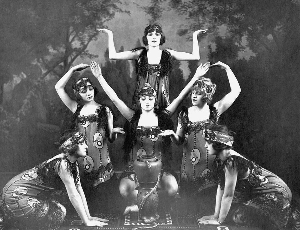 Art deco era women pose in dance formation