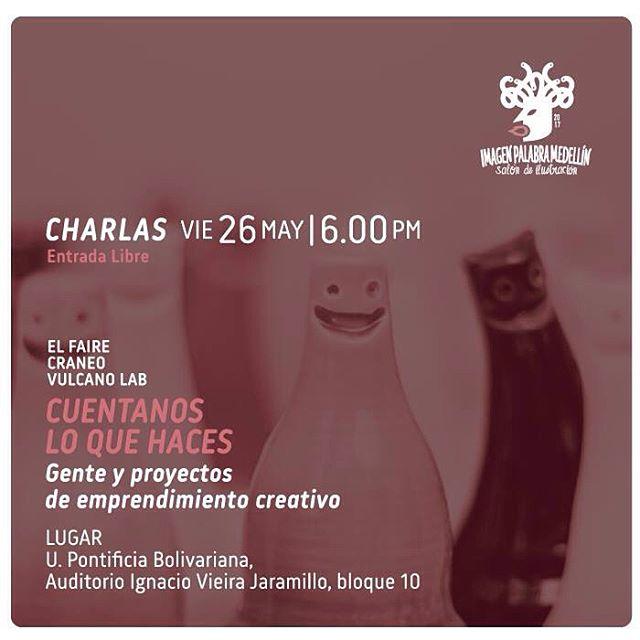 Hoy en @imagenpalabramedellin estaremos hablando sobre emprendimientos creativos con @craneotransforma @elfairemedellin @vulcano_design_lab acompáñanos y recibe un bono de @unomasuno_cocina