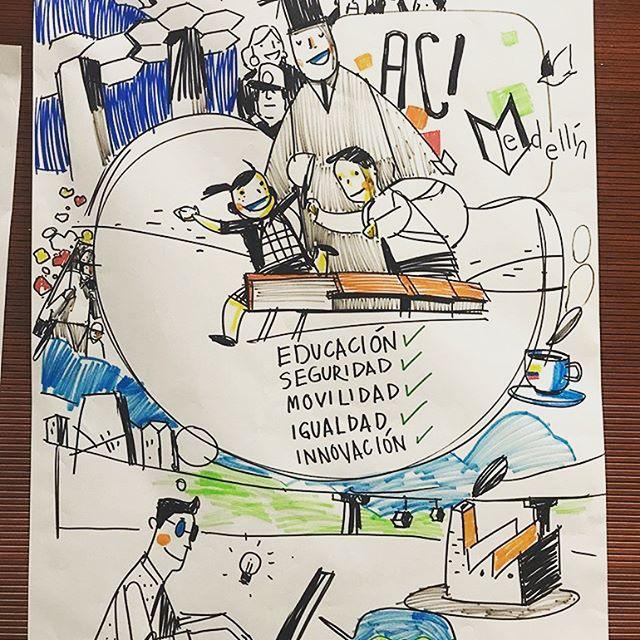 Hoy estuvimos junto con @acimedellin celebrando con dibujos los 15 años de cooperación internacional