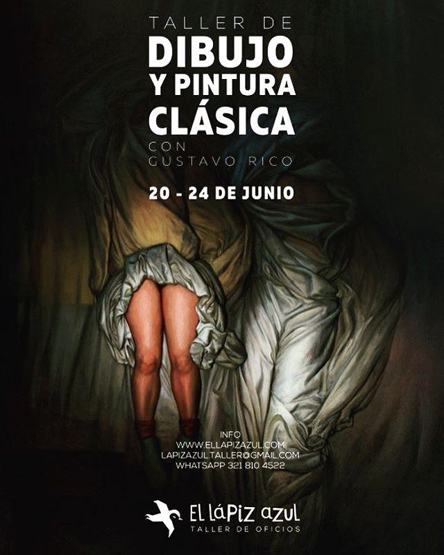 No te pierdas este taller intensivo de dibujo y pintura clásica con Gustavo Rico.