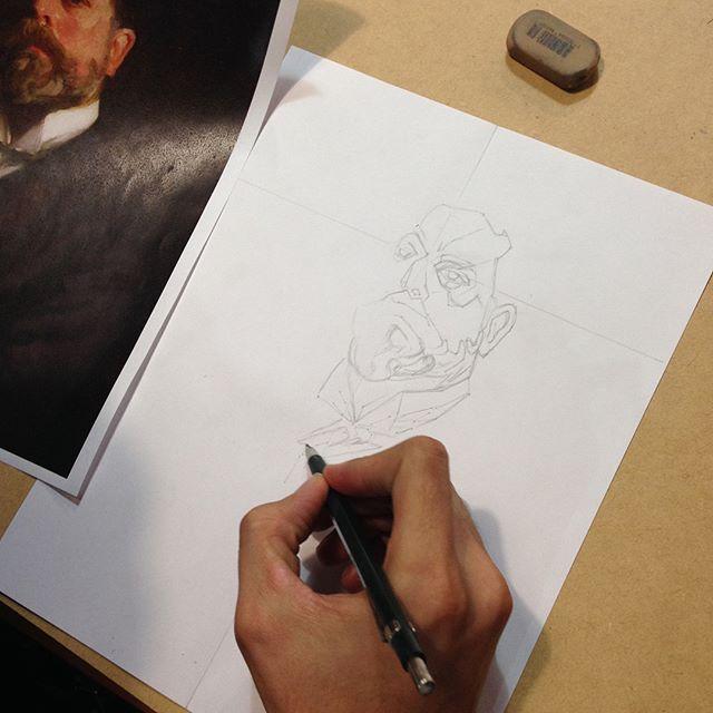 Iniciamos el taller de dibujo y pintura clásica con @gustavo_rico_navarro