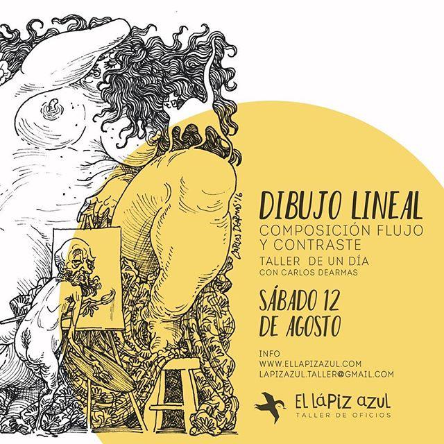 Ya separaste tu cupo para el taller de #dibujo con el grandioso @carlos.dearmas. Info www.ellapizazul.com