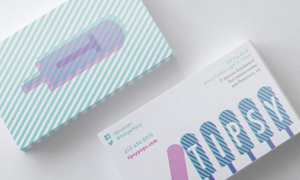Tipsy Pops Business Cards