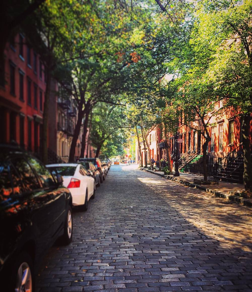 HLD from the majestic West Village! 🌳🌳😘🌳🌳 #NYC #westvillage #laborday #weekend #summer #cobblestone #brownstone #manhattan #downtown #chelsea #meatpacking #thevilllage #openhouseny (at West Village)