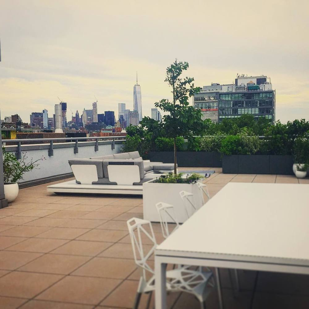 Happy Fourth from this stellar terrace! 🌃🎉💃🗽🇺🇸 #independence #nyc #manhattan #downtown #chelsea #fidi #worldtrade #views #terrace #style #tribeca #iloveny #highline #meatpacking  (at The High Line)