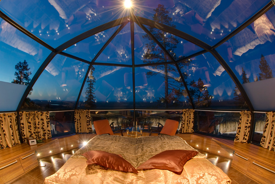 creativehouses :      Romantic view of the stars from a glass igloo in Finland    via  reddit      Read More