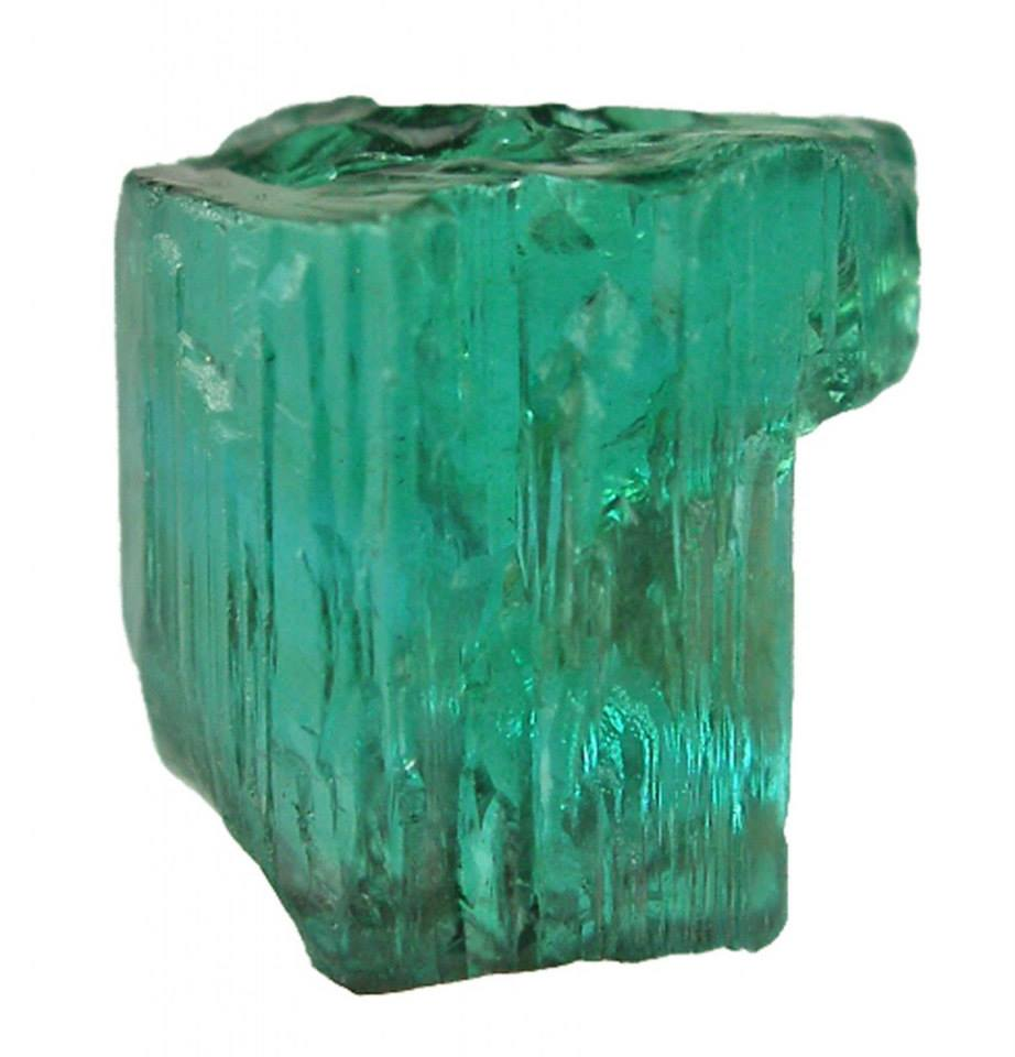 earthstory :      Paraiba tourmaline    Named after a region of Brazil famous for its pegmatitic gems, the electric blues and greens of this tourmaline are caused by copper. We have described this gemstone in much more detail at  http://tinyurl.com/mqbbysd  .    Loz    Image credit: Rob Lavinsky/iRocks.com      My fave 😍