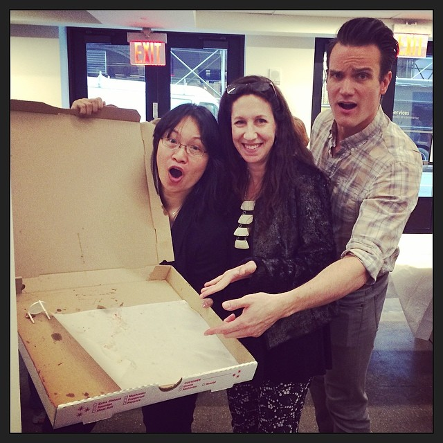 Who ate all the za? #AEpizzafest @esmoskal @kam1212  (at A & E Television Networks)