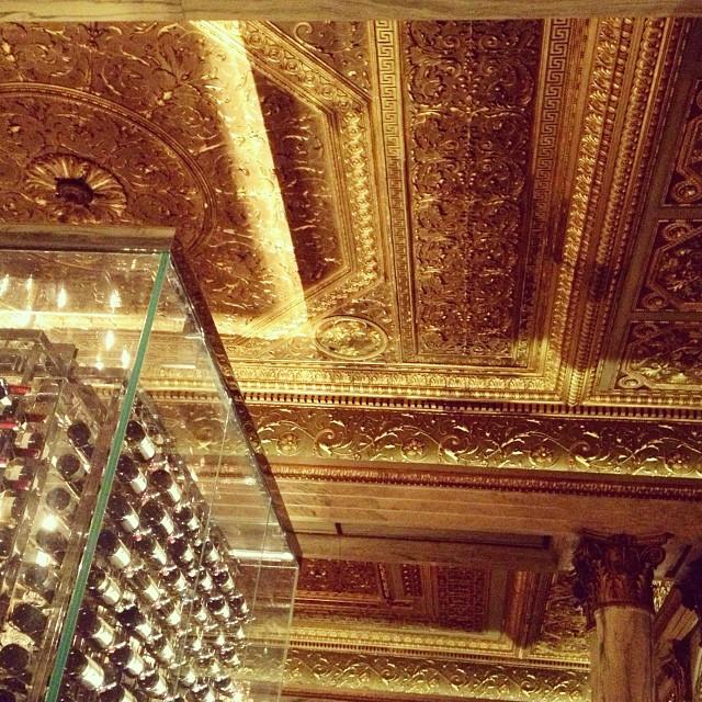 Gorgeous original ceilings still in tact at New York Palace opening #Villard #michelrichard  (at Villard Michel Richard)