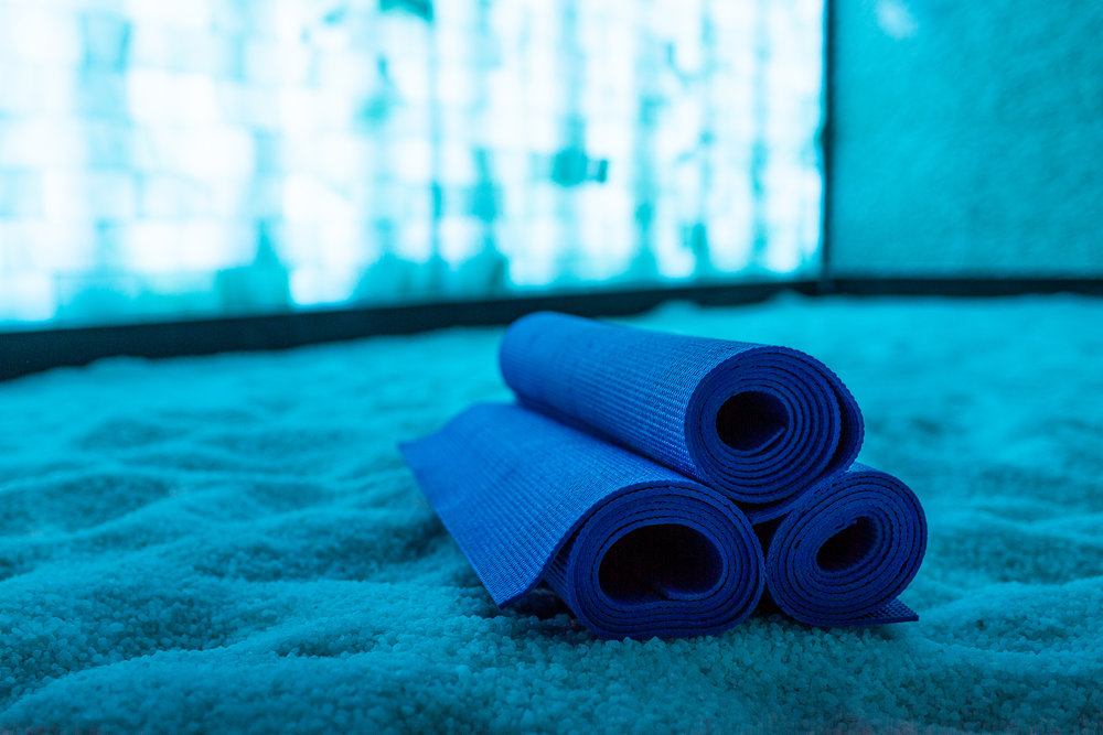 classes - Ready to take halotherapy to the next level? Choose a guided class in our group salt room - Yoga with Level Yoga or Hypnosis with Grace Smith!