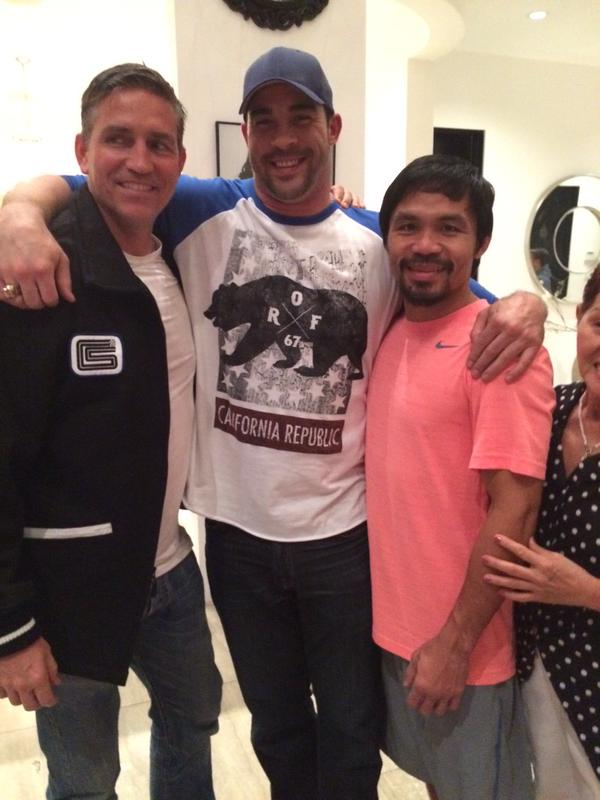 Watch out LA. @NinoBoxer's back in town & on a mission. #antibullying #JimCaviezel @MannyPacquiao #MayweatherPacquiao