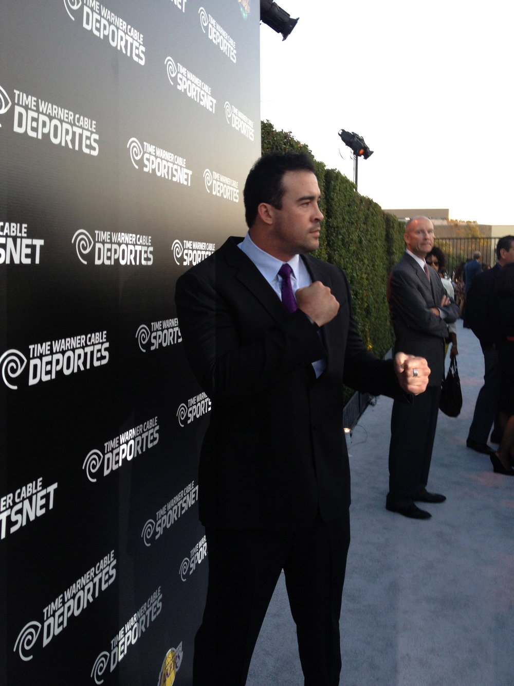 David attends the Launch Of Time Warner Cable Sportsnet
