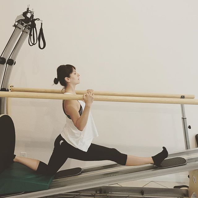 Our amazing client, Serrina who is 27 weeks pregnant, working out 3x's a week w/ us! #gyrotonicexpansionsystem #flexibleandstrong #thefifthline #strongmommy #holisticlifestyle #fromtheinsideandout