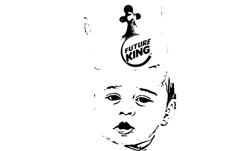 Get your stencil game on with the original Future King piece.