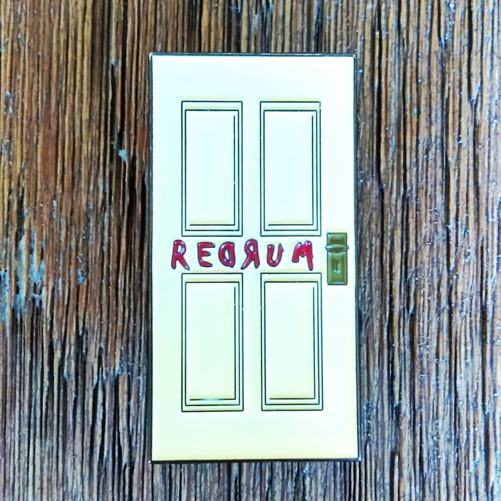 IMAG0072.jpg & The REDRUM DOOR Lapel Pin \u2014 quasivisualarts