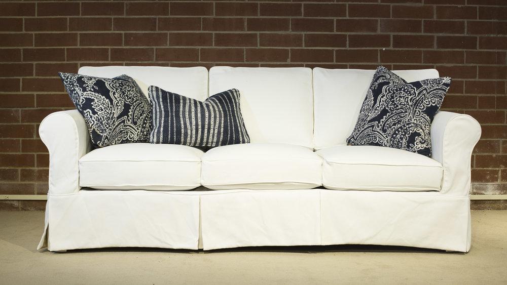 Lexi Slip | engender Furniture  | Slipcover Twill | Spice Indigo | Opulent Indigo