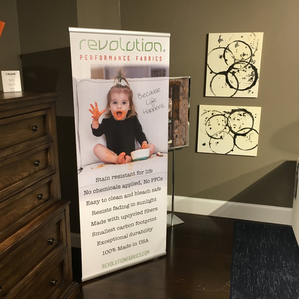 Lily was spotted in the  Broyhill  showroom at Market!