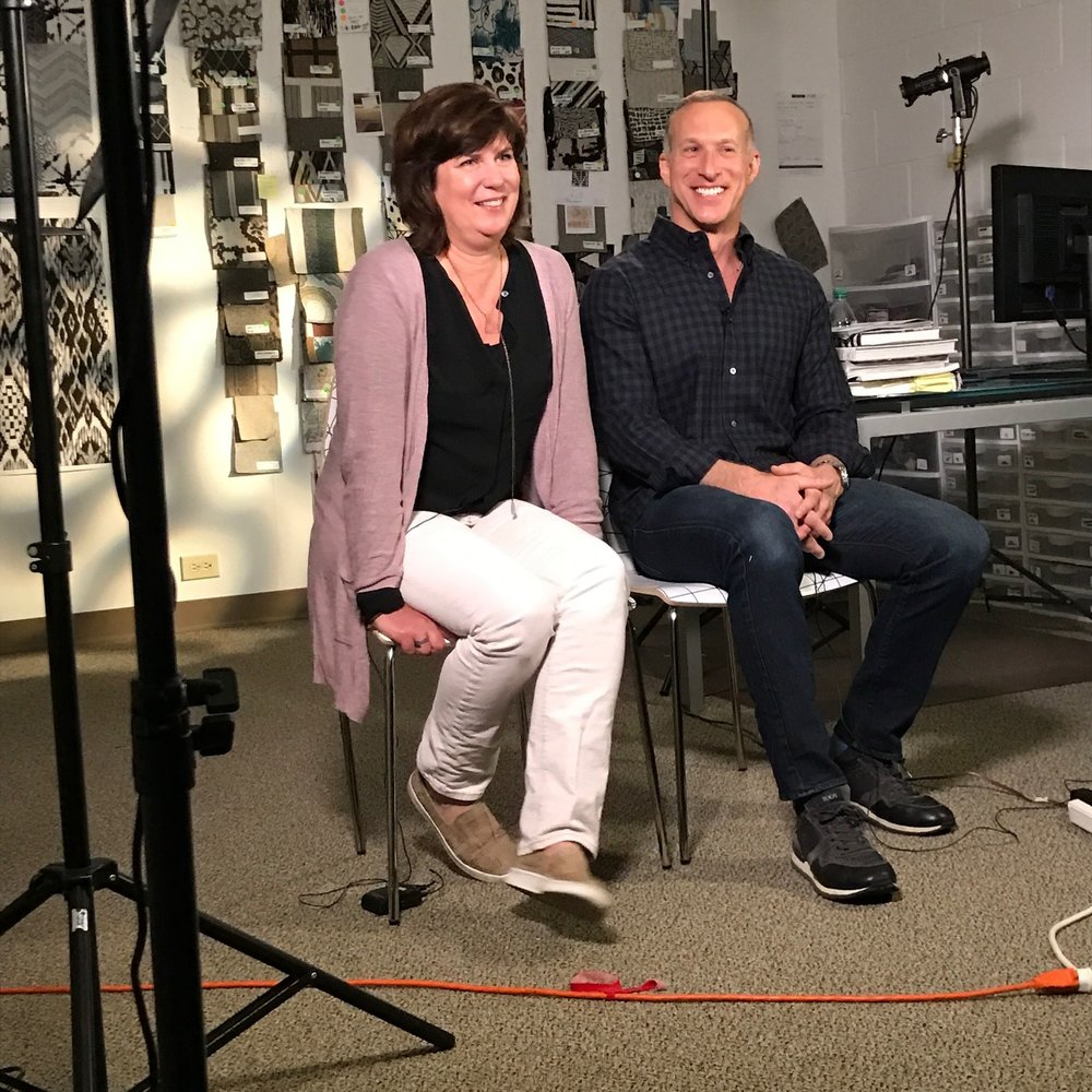 Signature designers, Kathy Dotterer and Glen Read, talking about where they find their design inspiration and what it's like to work at a domestic, high volume textile mill.