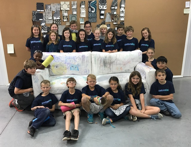 Gaston Day School with their Revolution sofa!