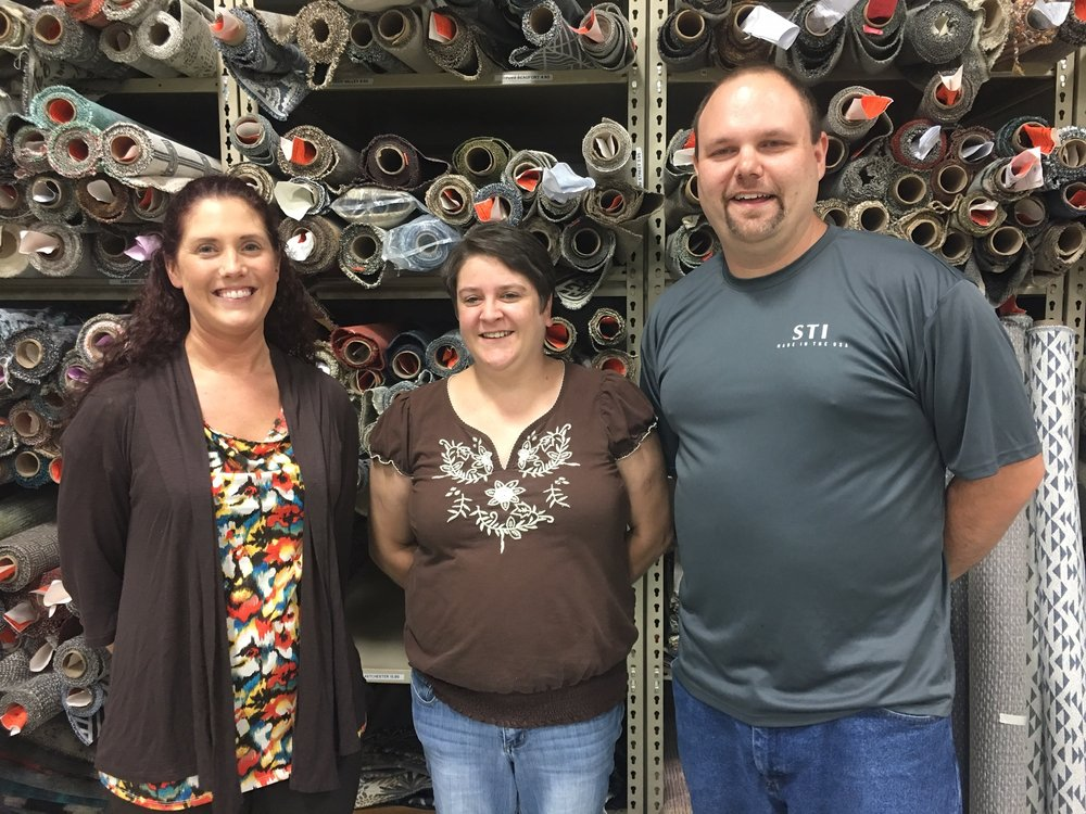 Above (left to right):  Heather Plummel , IT Data Entry Clerk;  Bobbie Daggerhart , IT;  Richard Gursslin , IT