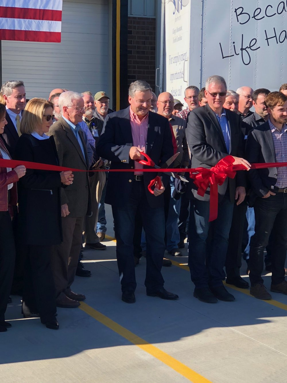 Mark Hovis , COO, cutting the ribbon!