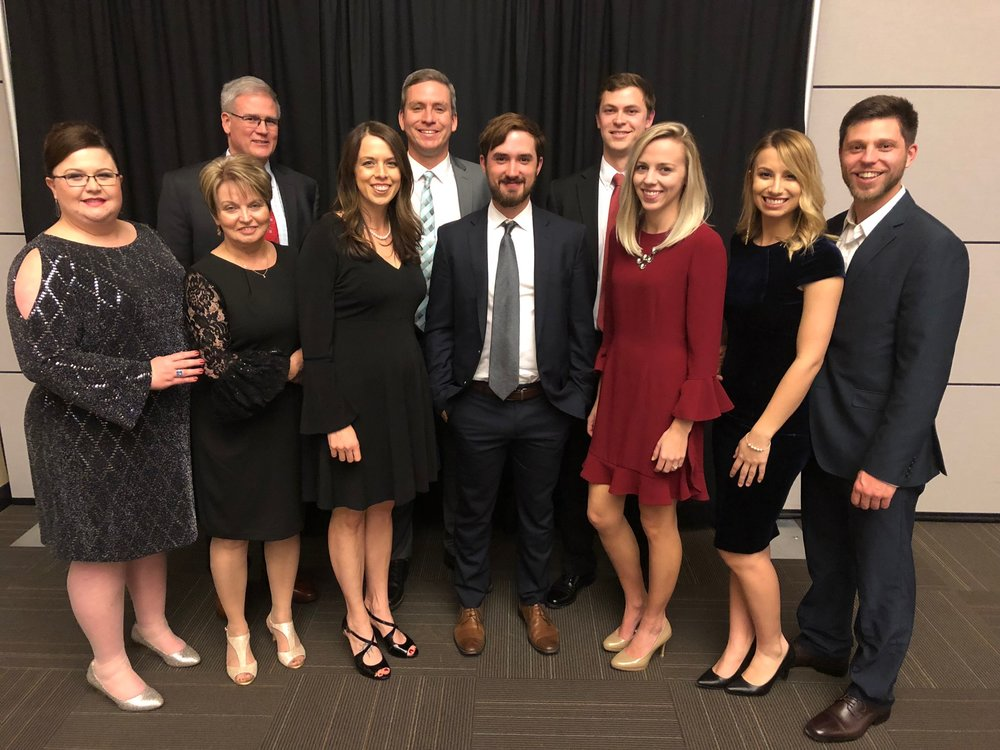 Above:  STI employees at the Cleveland County Chamber Awards Banquet! (left to right)  Sandra Jenkins, Pat Queen, John Kay, Matt Maples, Anderson Gibbons, Chris Dodds, Jacob Englert
